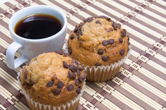 Coffe and muffin Royalty Free Stock Image