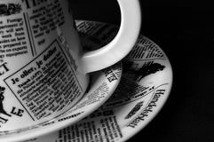 Coffe mug on plates Royalty Free Stock Image