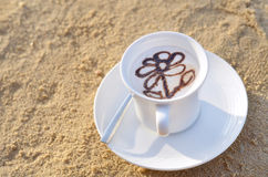 Coffe na plaży Obraz Stock