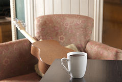 Coffe na stole restauracja Fotografia Stock