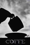 Coffe negro Imagenes de archivo