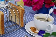 Coffe och bröd Royaltyfri Fotografi