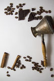 Coffe och chocobakgrund 02 Royaltyfria Foton