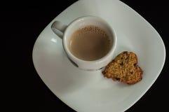 Coffe och kakan på beakfasten Fotografering för Bildbyråer