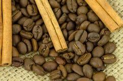 Coffe och kanel Royaltyfria Bilder