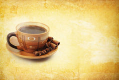 Coffe On Vintage Background Stock Image