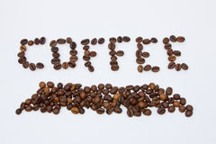 Coffe ord Royaltyfri Foto