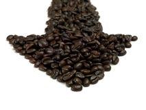 Coffe Pfeil 03 Lizenzfreie Stockfotografie