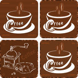 Coffe pictos Royalty Free Stock Image