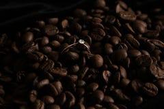 Coffe pierścionek Zdjęcia Stock