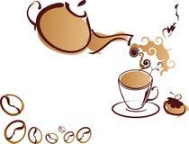 Coffe-pot en coffe-kop vector illustratie