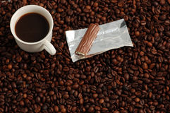 Coffe with a Praline royalty free stock photo