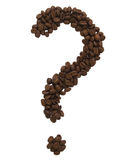 Coffe question-mark Royalty Free Stock Photography