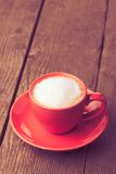 Coffe in red cup Royalty Free Stock Photo