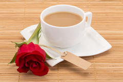 Coffe and rose Royalty Free Stock Photo