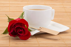 Coffe and rose Stock Image