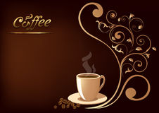 Coffe-Schale auf einem schwarzen Hintergrund Stockbild