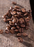 Coffe seeds on jute bag.  Royalty Free Stock Images