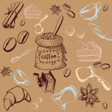 Coffe Set Background Stock Photo