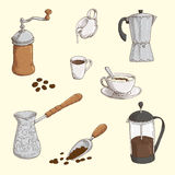 Coffe set Royalty Free Stock Photography