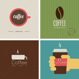 Coffe shop set. Vector illustration. Vintage - Coffe shop set. Vector illustration Royalty Free Stock Photography