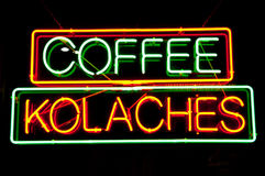 Coffe Shop Sign Stock Image