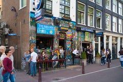 Coffe shoppar i amsterdam, Nederländerna royaltyfri bild