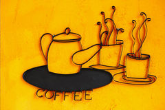 Coffe sign Royalty Free Stock Photos