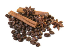 Coffe and spices Royalty Free Stock Photos