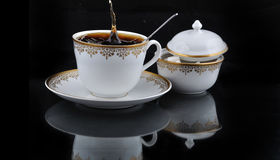 Coffe and splash Stock Images