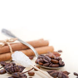 Coffe sugar and spice Royalty Free Stock Photography