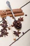 Coffe sugar and spice Stock Photo