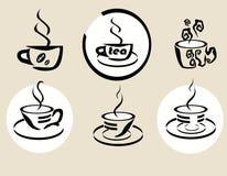 Coffe tea Stock Images