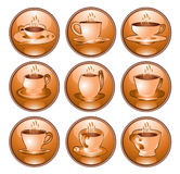 Coffe tea icon Stock Photos