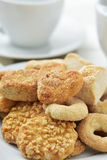 Coffe or tea and shortbread biscuits Stock Photo