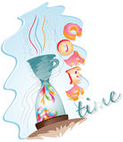 Coffe-tiempo Foto de archivo libre de regalías