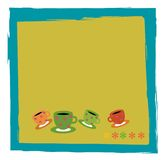 Coffe time. Note pad for eny coffe for invitation Royalty Free Stock Images