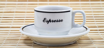Coffe time. A cup of italian coffe Stock Photography