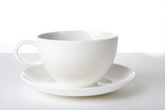 Coffe time. White coffe cup on white back ground Stock Image