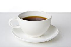 Coffe time. White coffe cup on white back ground Stock Photo