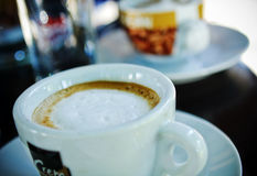 Coffe. Time with my friend stock photography