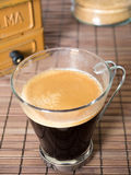 Coffe time. A White cup of coffe Royalty Free Stock Image