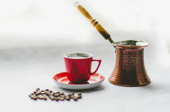 Coffe turco Immagini Stock