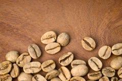 Coffe verde (goma-arábica do coffea) Foto de Stock
