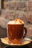 Coffe with whiped cream for breakfast Royalty Free Stock Photos