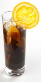 Coffe with whiskey and ice. And orange slice Royalty Free Stock Image