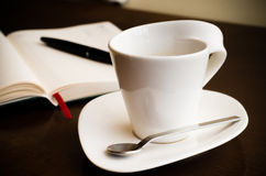 Workplace coffe Stock Image