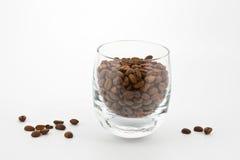 Coffeabohnen im Glas Lizenzfreie Stockfotos