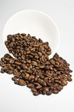 Coffebeans. Coffeebeans in a white bowl Stock Photo