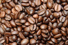 Coffebeans. A macro of whole coffeebeans Royalty Free Stock Photo